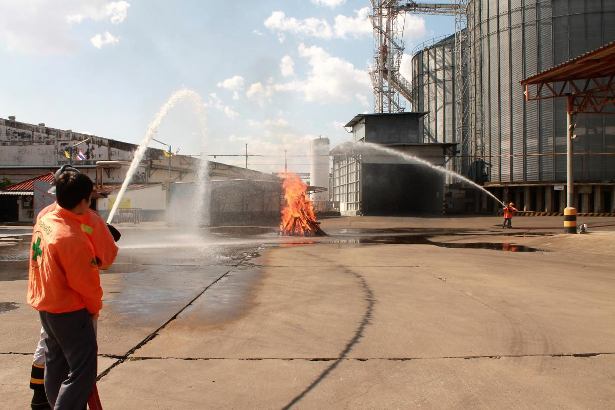 ฝึกซ้อมดับเพลิงและอบรมการปฐมพยาบาล ประจำปี 2562